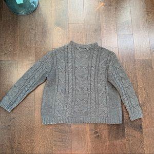 Mango | grey knit sweater